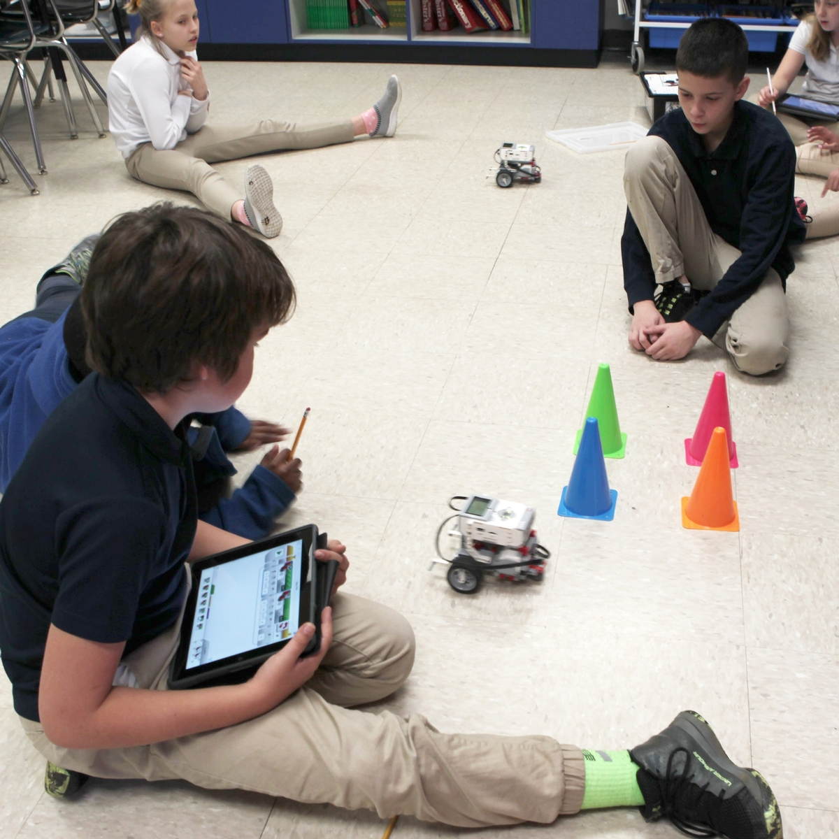 Learning in Action with Lower School Robotics Image